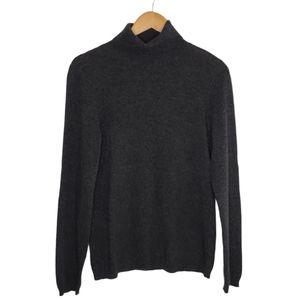 Ann Taylor 100% Cashmere Grey Turtleneck Sweater
